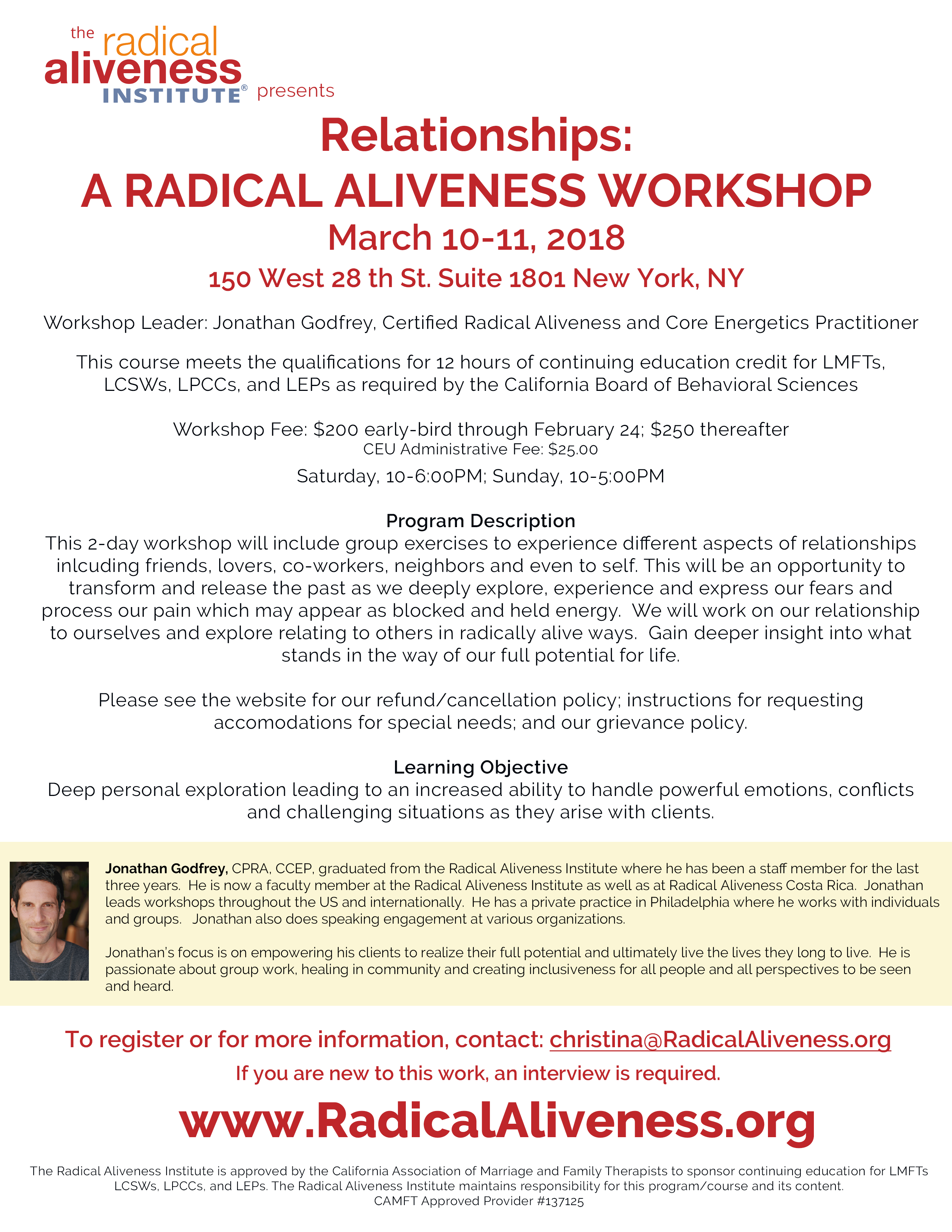 Relationships: A Radical Aliveness Workshop: NYC @ New York | New York | United States