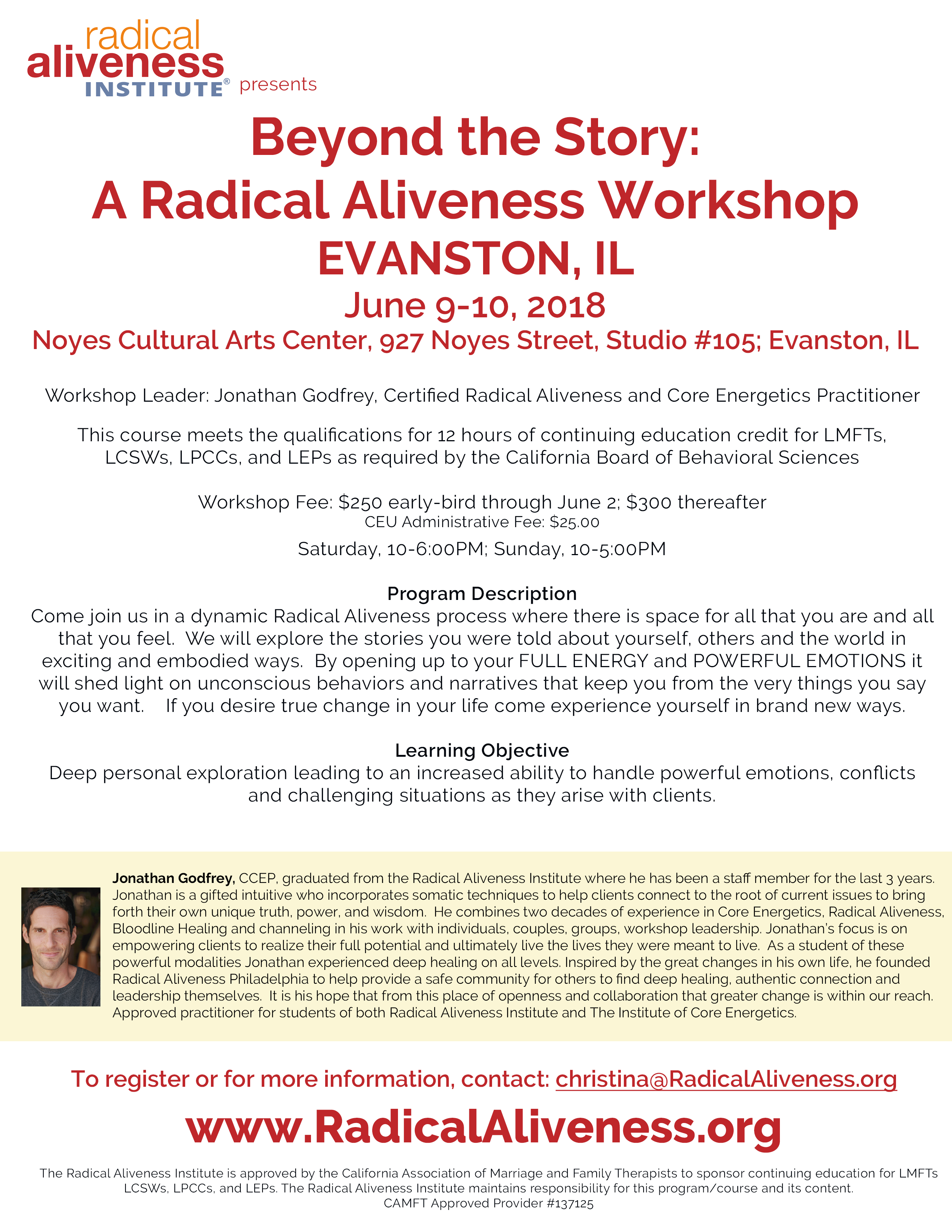 Beyond the Story: A Radical Aliveness Workshop @ Noyes Cultural Arts Center | Evanston | Illinois | United States