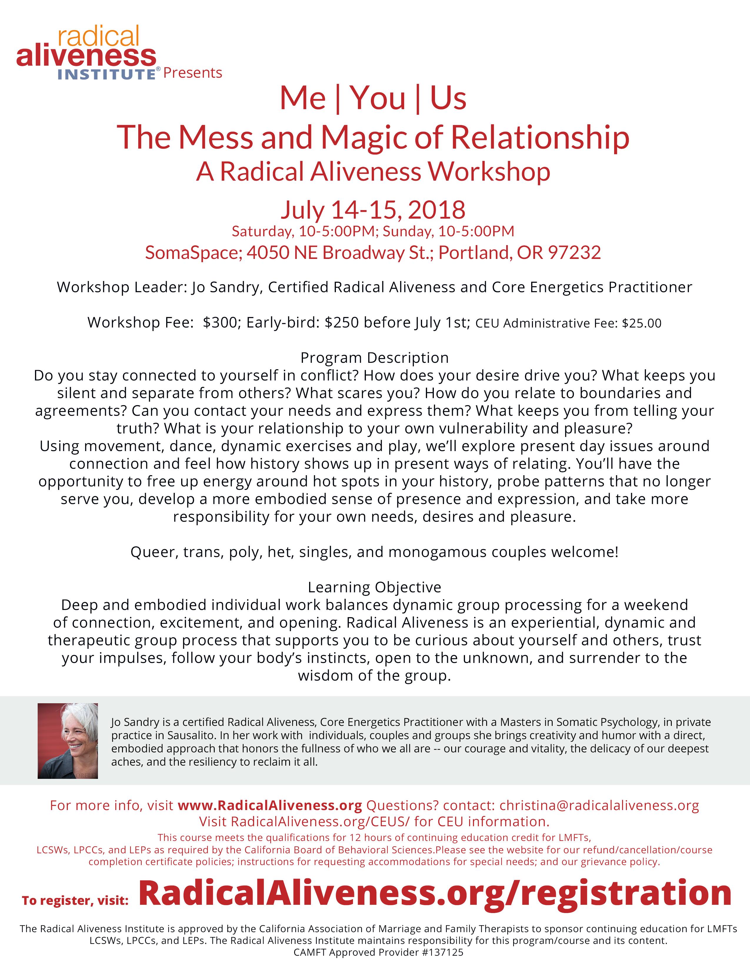 Me | You | Us: The Mess and Magic of Relationship @ SomaSpace | Portland | Oregon | United States